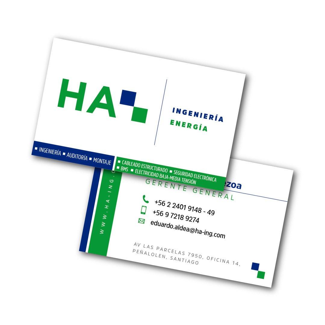 Tarjeta de presentación HA Ingenieria
